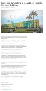 Campaña HOSPITAL COLOR pro HOSPITAL NACIONAL DE NIÑOS